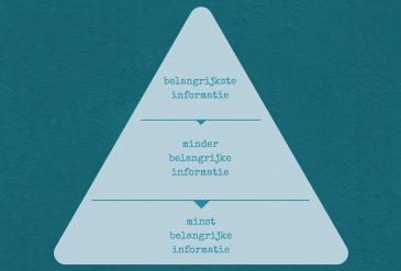 Structureer jij je teksten volgens de piramidestructuur?